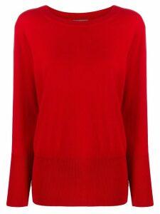 N.Peal deep rib jumper - Red
