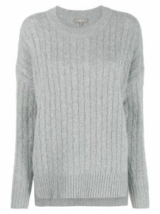 N.Peal cable knit jumper - Grey