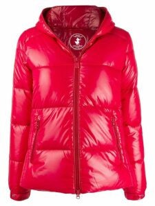 Save The Duck short zipped puffer jacket - Red