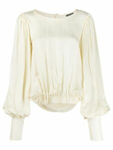 Ann Demeulemeester elasticated waist blouse - NEUTRALS