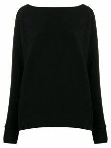 Calvin Klein boat neck sweatshirt - Black