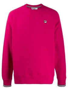 Fila logo patch relaxed-fit sweatshirt - Pink