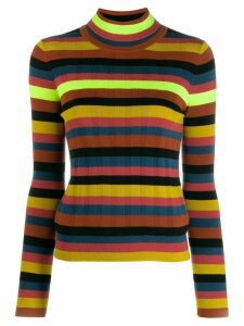 Paul Smith striped turtle-neck sweater - Yellow