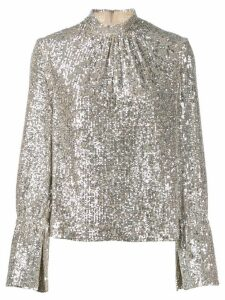 Zadig & Voltaire Tummy sequin top - NEUTRALS