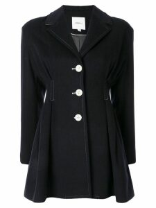 Moon J single-breasted peplum blazer - Black