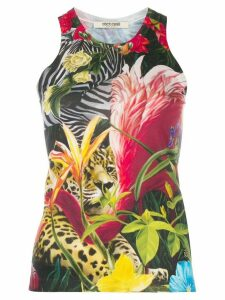 Roberto Cavalli Paradise Found silk tank top - Black