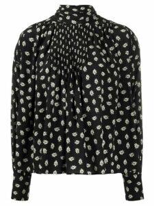 Isabel Marant floral print boxy blouse - Black