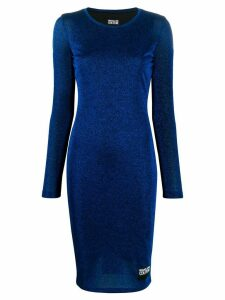 Versace Jeans Couture fitted lurex dress - Blue