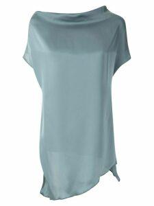 Uma Raquel Davidowicz drape neck Cabot blouse - Blue