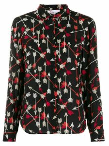 Red Valentino arrow print shirt - Black