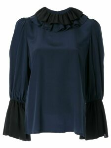 Tory Burch ruffle collar blouse - Blue
