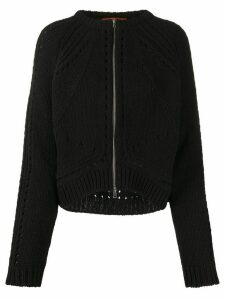 colville zip-through cardigan - Black