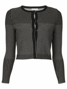 Oscar de la Renta striped cardigan - Black