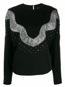 Isabel Marant Valia sequin embellished sweatshirt - Black