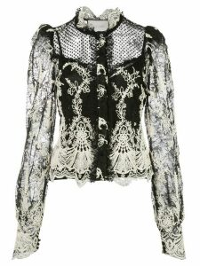 Alexis embroidred lace blouse - Black