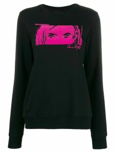 Karl Lagerfeld Karl x Carine flocked sweatshirt - Black