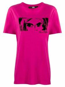 Karl Lagerfeld Karl X Carine T-shirt - PINK