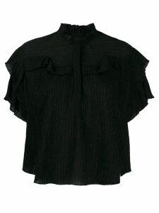 Isabel Marant Muza metallic pinstripe blouse - Black