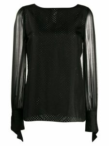 Karl Lagerfeld Karl x Carine sheer blouse - Black