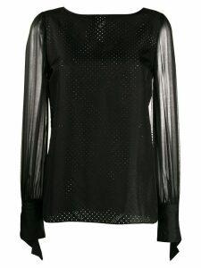 Karl Lagerfeld Karl x Carine sheer blouse - Black