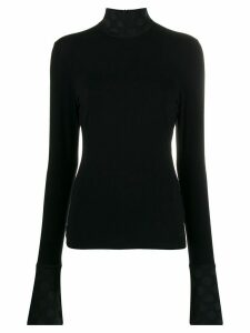Karl Lagerfeld Karl x Carine dot knitted top - Black