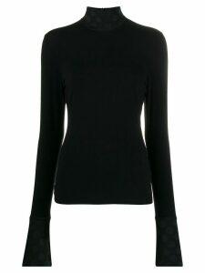 Karl Lagerfeld Karl x Carine dot knitted top - Black