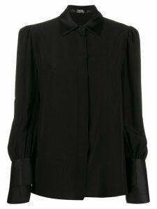 Karl Lagerfeld Karl x Carine detail cuff shirt - Black