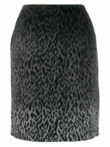 Karl Lagerfeld Karl x Carine brushed finish skirt - Grey