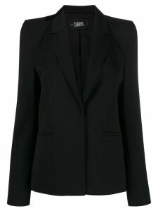 Karl Lagerfeld Karl x Carine power shoulder blazer - Black