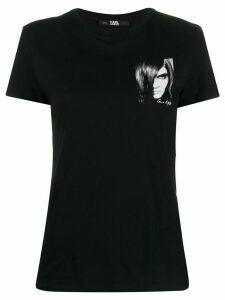 Karl Lagerfeld Karl xCarine print T-shirt - Black