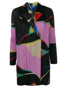 Pleats Please Issey Miyake geometric print plissé shirt - Black