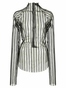 Paula Knorr velvet striped top - Black