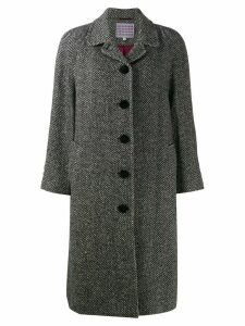 Alexa Chung herringbone coat - Black