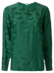 Stella McCartney horse-jacquard blouse - Green
