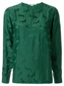 Stella McCartney horse-jacquard blouse - Green