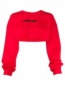 Mia-iam Puff Destroy 20 cropped sweatshirt - Red