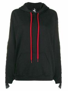 Mia-iam Girlfriend side logo hoodie - Black