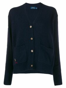 Polo Ralph Lauren embroidered pony straight-fit cardigan - Blue