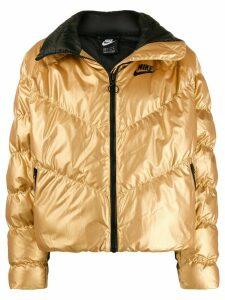 Nike metallic puffer jacket - GOLD