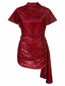 Paula Knorr draped velvet top - Red