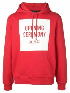 Opening Ceremony box logo hoodie - Red