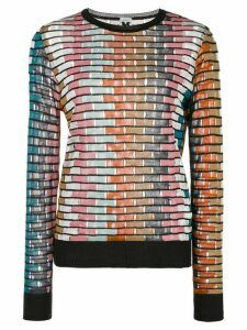 M Missoni open-knit long-sleeved top - Multicolour