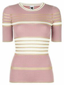 M Missoni striped-knit T-shirt - PINK