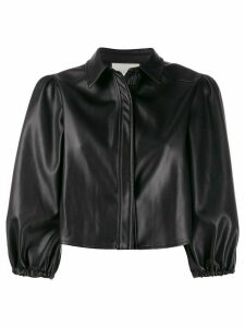 Alexis cropped puffed sleeve jacket - Black