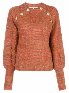 Veronica Beard cable-knit sweater - ORANGE