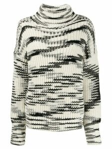 Joseph high neck printed jumper - NEUTRALS
