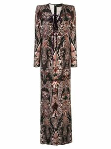 Dundas floral-print dress - Black
