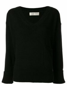 Lamberto Losani v-neck jumper - Black