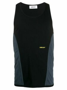 Ambush contrast panelled tank top - Black