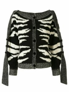 Onefifteen animal print cardigan - Black